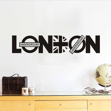 DCTOP Removable Home Decor Diy London Wall Sticker Union Jack Vinyl Adhesive Art Muursticker For Living Room Accessories