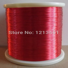 500 meters/pcs QA-1-155 Red Magnet Wire 0.2mm Enameled Copper wire Magnetic Coil Winding 0.2 mm(China)