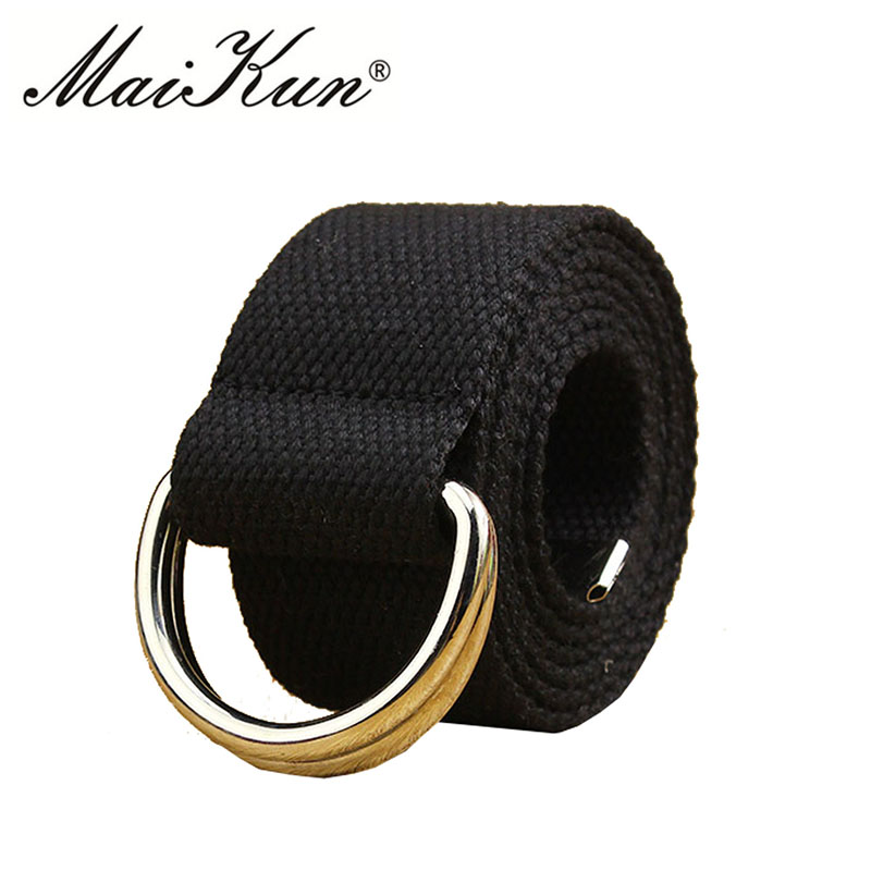 New Military Belts for Man Women Tactical Canvas Belt for Men Tactical Clothing Belt Luxury Double Ring Buckle Male Strap(China)
