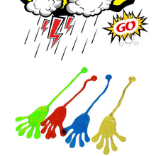 SSXZ 5PCS/lot  Novelty Glitter Sticky Hands Gags Toys Funny Gadget Practical Jokes Baby Toys For Children Kid Novelty & Gag Toys