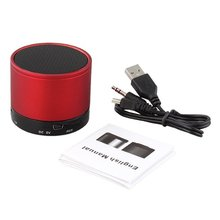 EDT-Red Bluetooth Speaker Stereo Speaker Case 10m x TF MP3 MP4 PC
