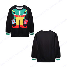 Abstract Santa Claus Hip Hop Hoodie Autumn Winter Christmas Gifts Exercise Sweater Black Oversize Sweatshirt Men Jumper Pullover