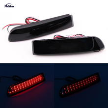 Black Smoke Lens LED Rear Bumper Reflector Light DRL for Toyota Previa RAV4 Alphard Scion xD(China)