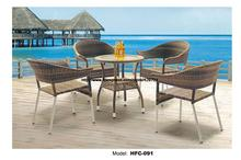 Modern Design Holiday Leisure Sea Beach Swing Pool Gardern Furniture Rattan Wicket 1 Table 4 Chair Garden Set Furniture Rattan(China)