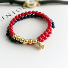 Mcllroy Red Coral Bangle For Women Men Natural Stone Feminino Gold Rose Flower Wristband Coral bracelet Bridesmaid bracelet Set(China)