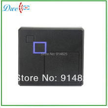 Free Shipping  13.56Mhz MF wiegand 26 bits output format proximity reader waterproof passive rfid card reader dark grey  color