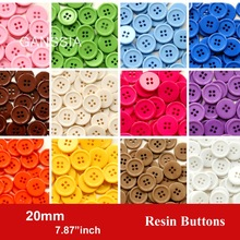 60pcs/lot size:20mm Candy colors fashion resin buttons for craft 4 Holes bulk buttons for garments Sewing accessories(SS-674-2)