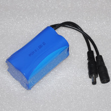 New 7.4v 4400MAH 18650 Li-ion lithium rechargeable battery pack for LED fishing flashlight torch and headlight
