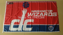 Washington Wizards Flag Plastic D-rings New 3x5ft 90x150cm Large Polyester Flag Banner, free shipping(China)