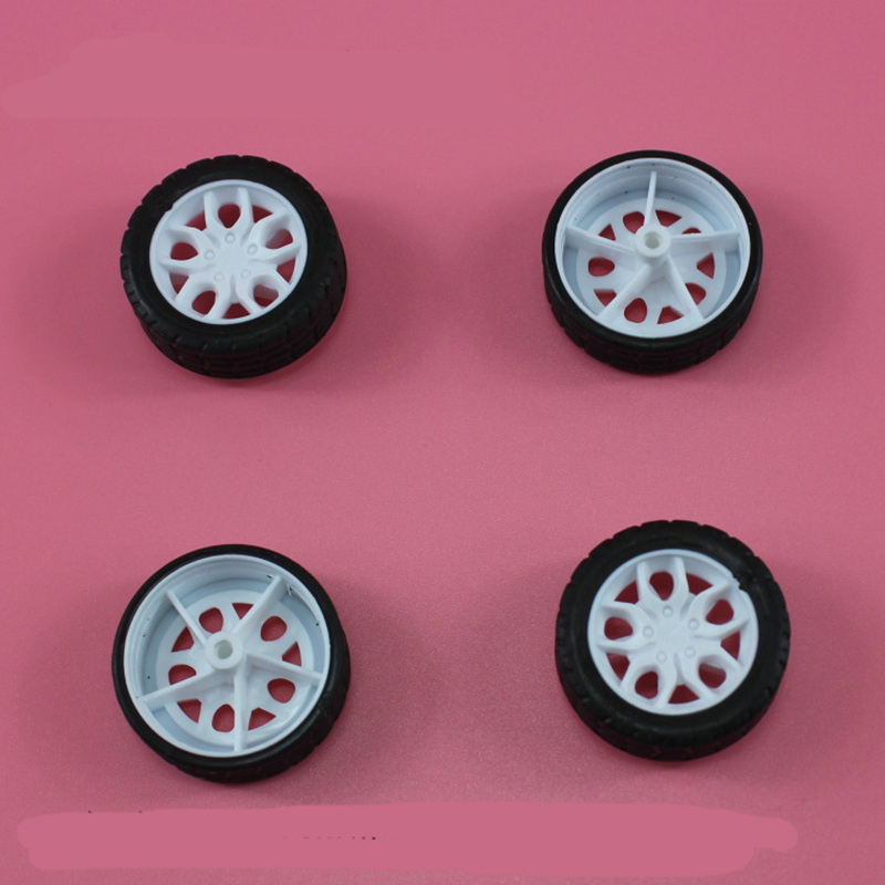16pcs 2x30mm model car wheel Rubber Tire/rc car accessories/tamiya/hot wheel/DIY toy accessories/technology model parts