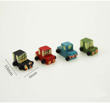 1:12 Scale Dollhouse 4Pcs Miniature Wooden Car with Rope Skipping Funny Toys For Children