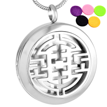 IJP0010 Aromatherapy Jewelry Hot Selling,New Design Stainless Steel Perfume Locket / Essential oil Diffuser Necklace Women Men