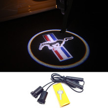 1 Pair LED Car Door Courtesy Laser Projector Logo Ghost Shadow Light for Ford Mustang V6 GT