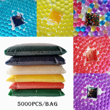 5000pcs Hydrogel Balls Growing Water Balls Pearl Shape Water Beads Crystal Gel Aqua Jelly Beads Grow 2.0-3.0mm Crystal Soil