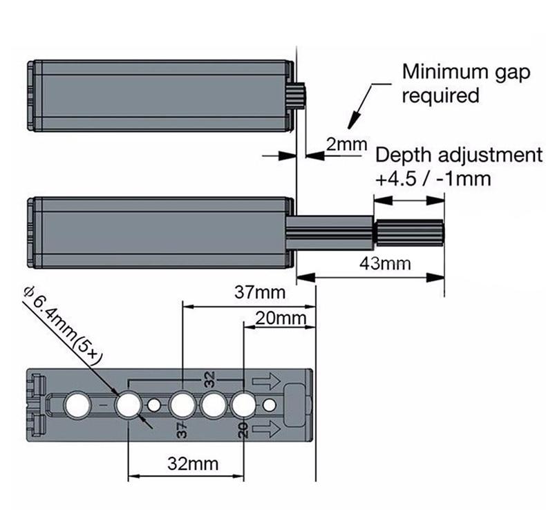 Cabniet Catches Door Stopper Drawer Soft Quiet Closer Push To Open Damper Buffer-03-1