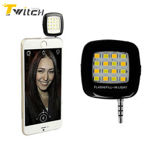 Portable Rechargeable 16 Selfie Flash LED Camera Lamp Light For iPhone 6 6s 7 Samsung HTC LG Hwawei Xiaomi mobile Phones
