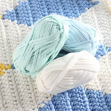 1 pcs Woolen Yarn DIY Knitting Wool for Rugs Woven Thread Cotton Cloth Yarn Hand Crocheted Basket Rug Blanket Fancy Yarn Fabric