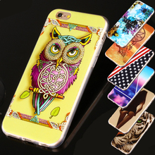 For Apple iPhone 4 4S 5c 5 5S SE 6 6S Plus 7 7Plus Luxury PINK Flower Owl Design TPU IMD Tower Back Silicone Phone Case Cover