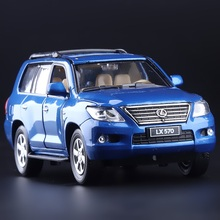 High Simulation Exquisite Collection Toys Car Styling LEXUS LX570 Luxury Off-Road 1:32 Alloy SUV Car Model Best Gifts Toys(China)