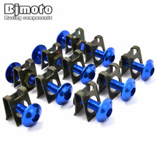 Screws-2006 1Motorcycle Scooters Fairing Body Work Bolts Nuts M6 6MM Spire Speed Fastener Clips Screw Yamaha Honda KTM - BJGLOBALSPORT Store store