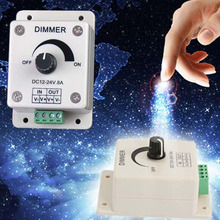 Hot High Quality 12V 8A 96W PIR Sensor LED Protect Strip Light lamps Switch Dimmer Adjustable Brightness Controller#P