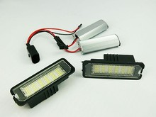 2Pcs XENON MATCH LED NUMBER PLATE LICENSE PANEL MODULE LAMP fit for VW Golf 7 MK7 VII 2013 -