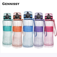 GENNISSY Leak-Proof Seal Large Capacity Nozzle Sport Bicycle Plastic Tritan My Water Bottles With Cover Lip Filter BPA free
