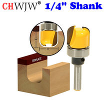 "1pc 1/4"" Shank Round-Nose Template Router Bit - 3/4"" W X 5/8"" H For Woodworking Cutting Tool(China)"