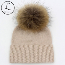 5 Years-15 Years Wool Children Beanies Crochet Winter Hat For Girls Boys Kids Big Girls Winter Hats Knitted Wool With Fur Pompom(China)