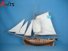 RealTS 1/50 sweden yacht wooden boat classic sailing boat model kit(China)