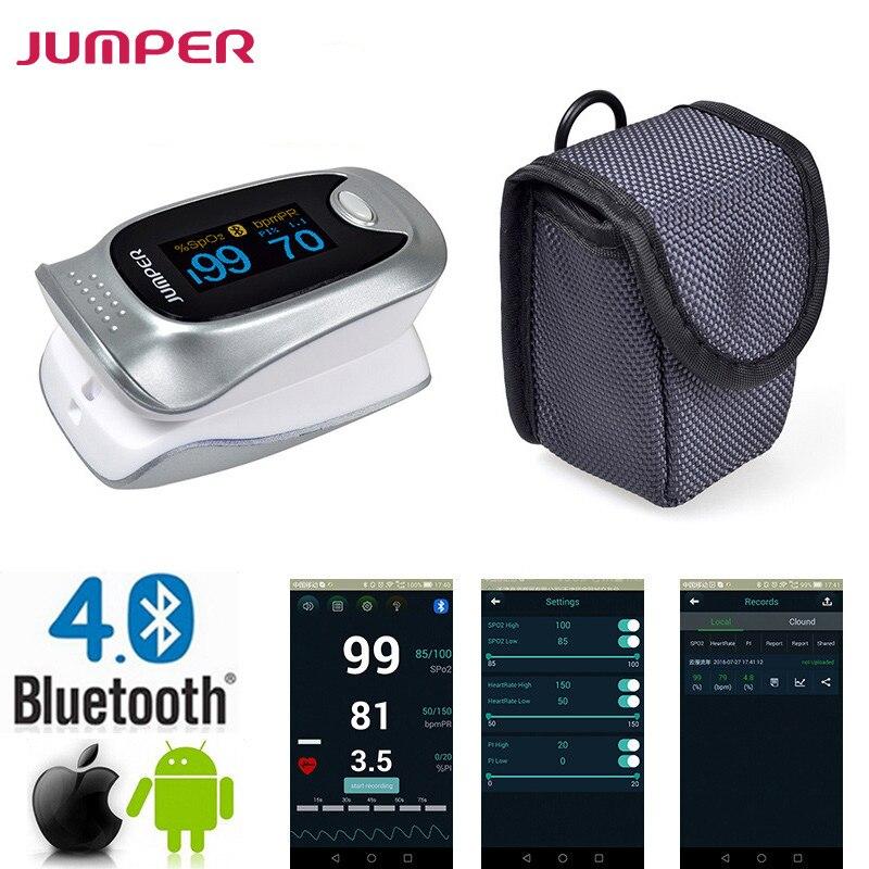 New Finger Pulse Oximeter Bluetooth Oximetro de dedo Blood Oxygen Saturation Oximetro a finger for Health Care<br>