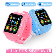 2017 new GPS tracker watch kids K 3 with camera 2.5D Touch screen waterproof children GPS tracker SOS Location watches(China)