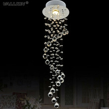 Mini Crystal Pendant Light Lamp Fixtures For Staircase Dining Room Bar with AC110 to 240V VALLKIN
