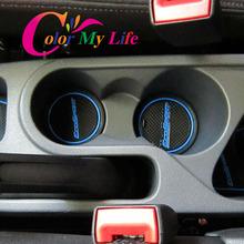 16Pcs/Set Rushed Internal Non-slip Interior Pad Cup Mat Gate Slot Rubber Mats for Ford Ecosport 2012 - 2016 Accessories