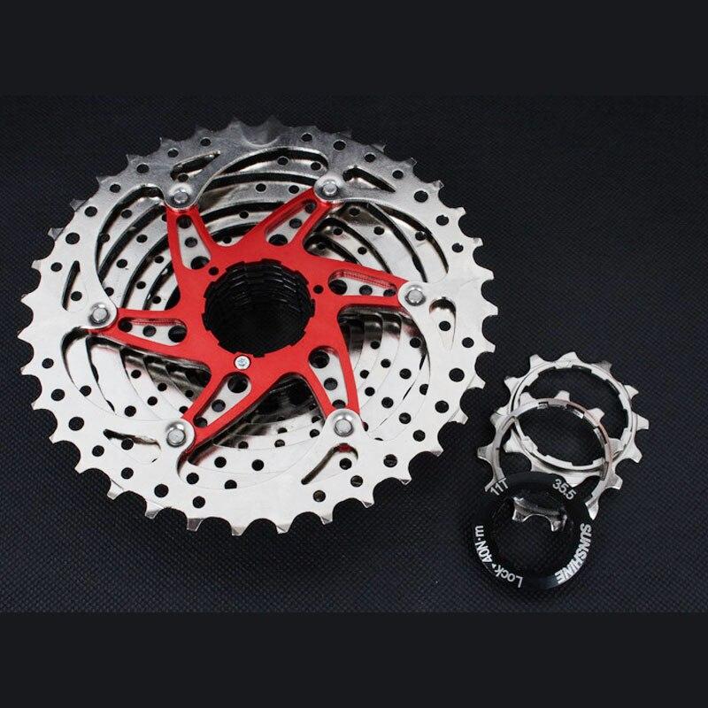 MTB Mountain Bike Bicycle 10S Cassette Freewheel 10 Speeds Flywheel 11-36T Teeth Crankset Bicycle Parts 392g silver<br><br>Aliexpress