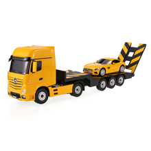 Rastar RC Cars 74920 2.4G 1/26 for Ben z Actros Trailer Truck with 1/24 Sport Racing RC Car Tractor Combo Set Boys Gifts(China)
