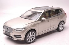 1:18 Diecast Model for Volvo XC XC90 2015 Gold SUV Alloy Toy Car Collection S60
