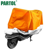 Partol L XXL XXXL Motorcycle Cover Waterproof Dustproof Scooter Cover Sportster Touring Bike Cruiser For Harley Suzuki Honda(China)