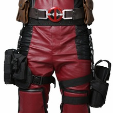 XCOSER Deadpool Tactical Leg Bag Wade Wilson Cosplay Costume Accessory Black Holster Pockets for Halloween Party Adult Size(China)