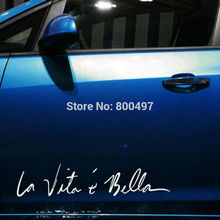 10 x Funny Sticker Life Is So Beautiful La Vie Est Si Belle Car Sticker Auto Decal Accessories for Tesla Bentley Jaguar Volvo