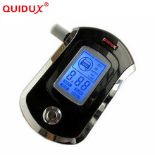 QUIDUX Professional Alcohol Tester Black Police Digital Alcohol Tester Breath Analyzer Breathalyzer Test LCD Detector AT6000(China)