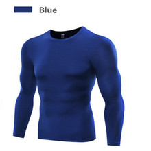 Brand Polyester Fabric Sports Tshirt Men Basketball Tennis Compression Long Sleeves Shirts for Fitness Gym Running Clothing M13