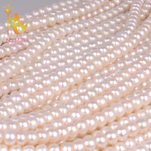 [NYMPH] natural pearl beads aaa real freshwater colar necklace Semi Round Pearl 9-10mm AAAA fine jewelry  [B103]