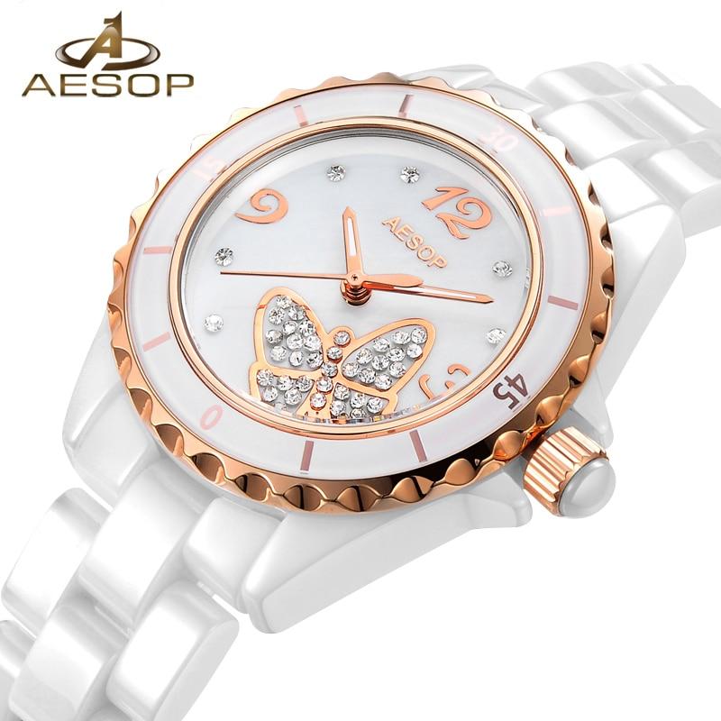 AESOP Brand Women Watch Bracelet Quartz Wristwatch Elegant Ladies Clock Ceramic Straps Relogio Feminino Montre Femme Fashion 46<br>