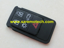 5 Buttons Remote Key Rubber Pad Replacement FOB Fit for Volvo S60 S80 XC70 XC90 Black Rubber Mat Remote Key FOB Silicone Case