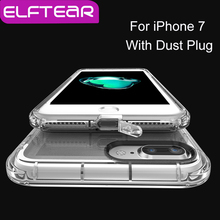 ELFTEAR Ultra Thin Transparent Clear Hard PC Case for iPhone 6 6s 6 plus 7 7 Plus Crystal Clear Protect Case With Dust Plug