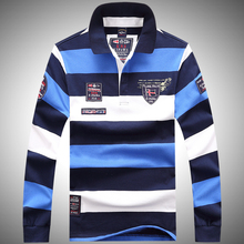 Sweater Shirt Polos Shark Tace Striped High-Quality Luxury Brand Embroidery New Para