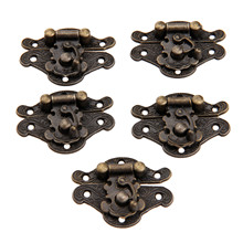 1Pc 65x52mm/82x65mm Antique Bronze Jewelry Wooden Box Hasps Drawer Latches Decorative Brass Suitcases Hasp Latch Buckle Clasp(China)