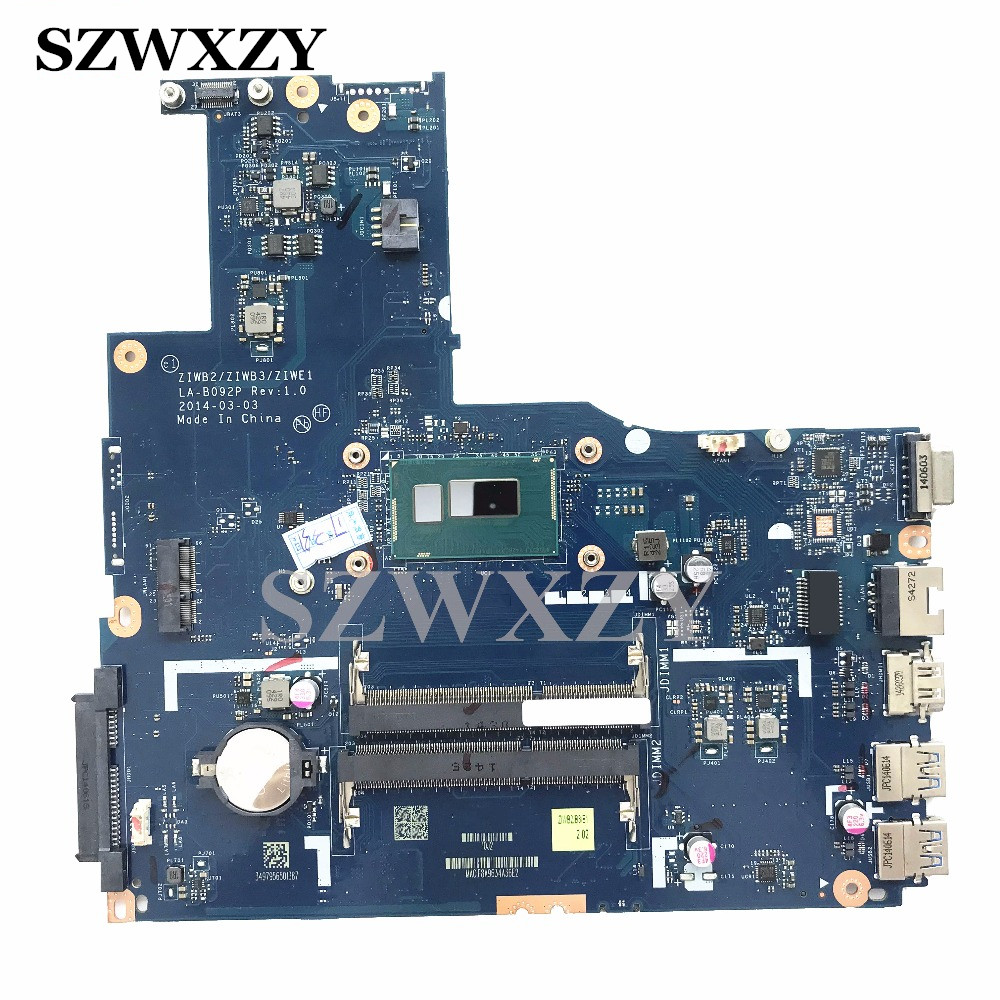 For Lenovo B50-70 B50-80 Laptop Motherboard LA-B092P REV:1.0 i5-4210U 1.7GHz Processor