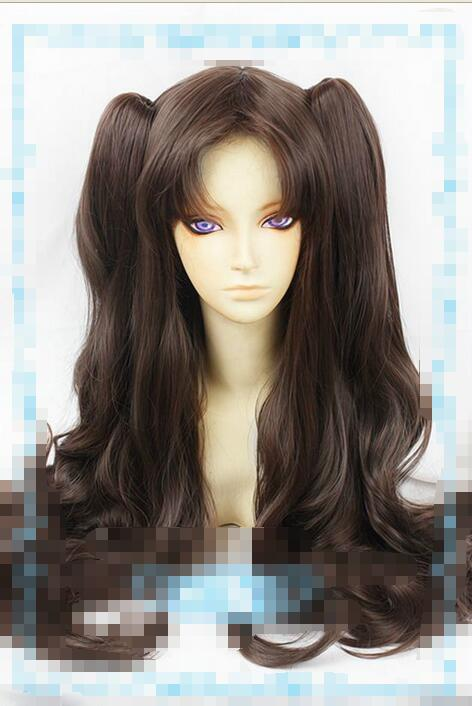 shun Hot heat resistant Party hair&gt;&gt;&gt;New Fashion Wig Fate/stay night Dark Brown Wig+2 horsetail longAA<br><br>Aliexpress